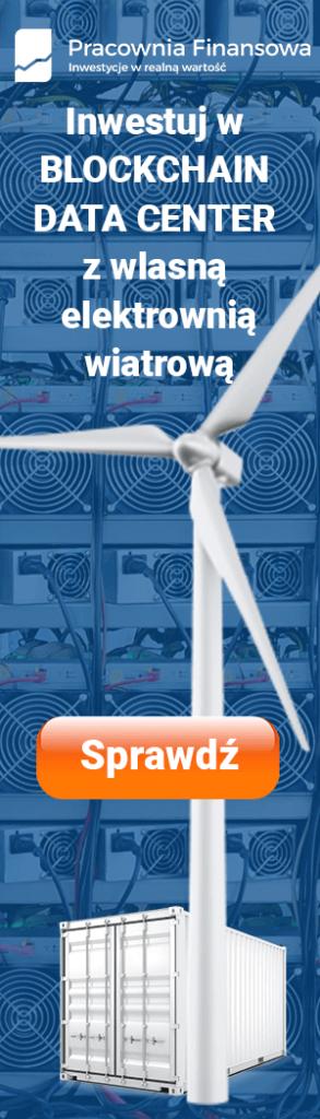 Elektrownia wiatrowa połączona z Blockchain Data Center