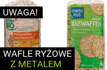 rossman żywność wafle ryżowe z metalem