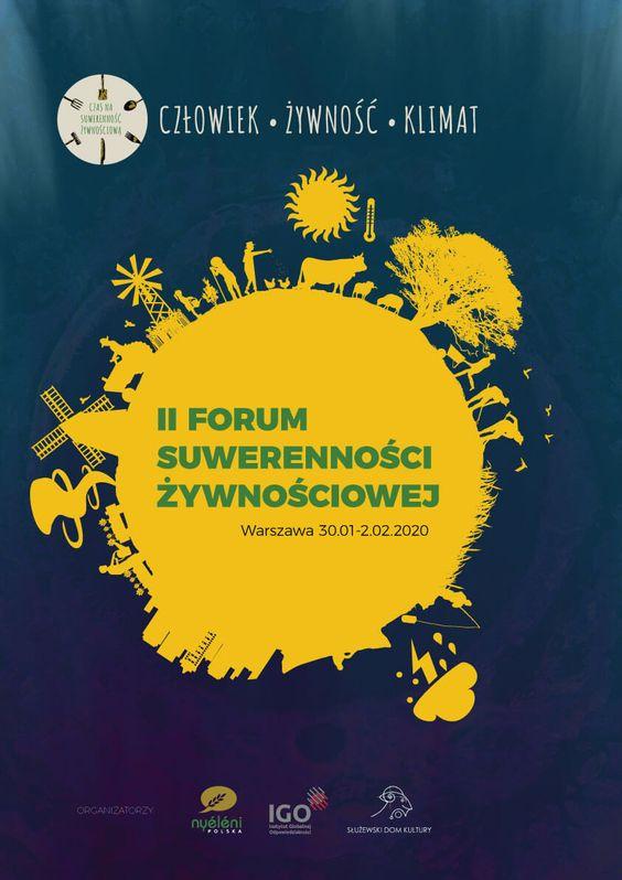 II forum suwerenności żywnościowej - plakat reklamowy