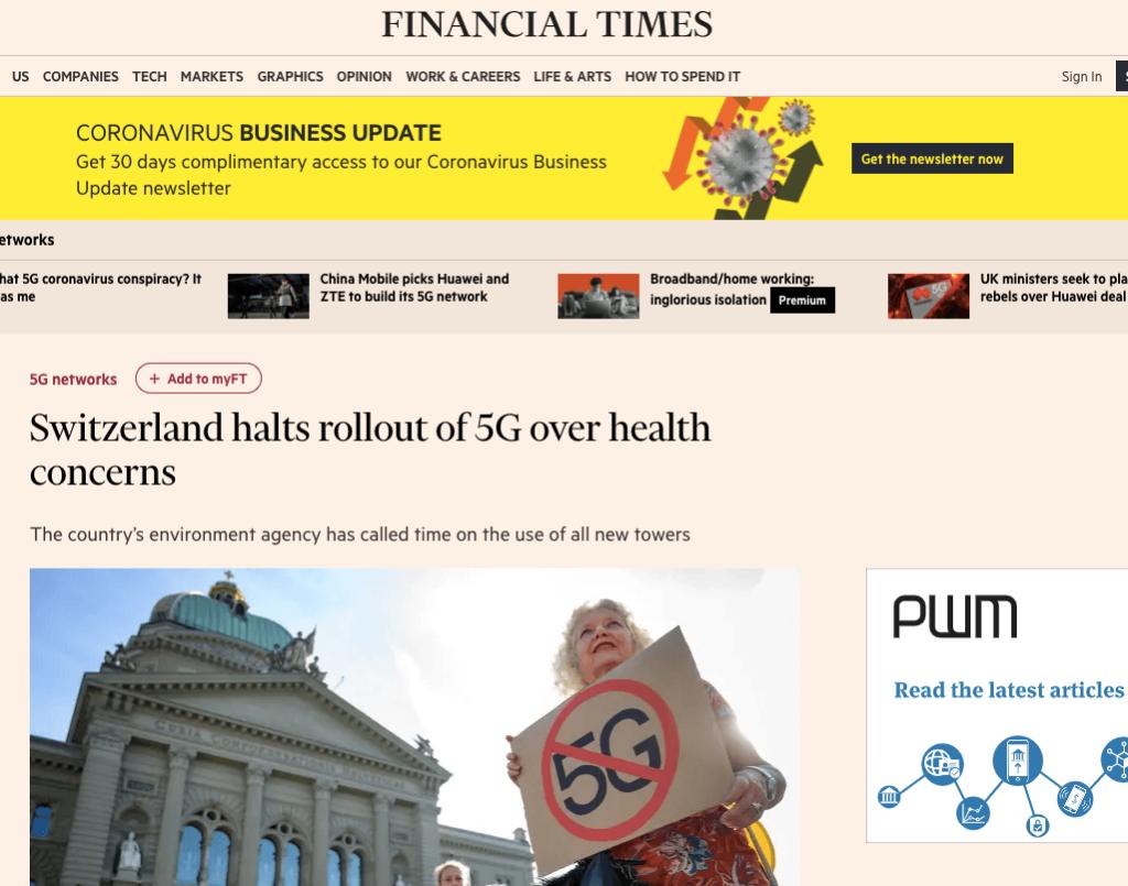 Szwajcaria zakazuje technologii 5g